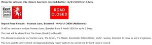 An update on Yeoman Lane Road Closure